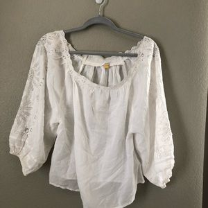 leifsdottir white off shoulder top sz small